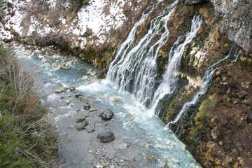 白ひげの滝と美瑛川