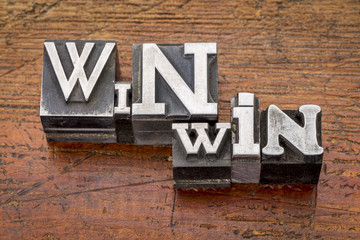 win-win strategy in metal type