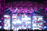 Fototapety Vector Stage Spotlight with Laser rays