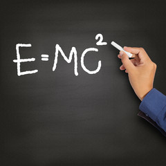 Hand writing theory of relativity (E=mc2)
