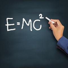 Hand writing theory of relativity (E=mc2)
