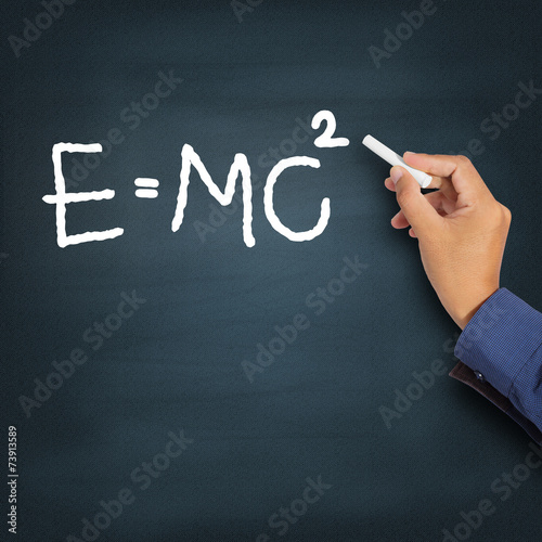 Poster Hand writing theory of relativity (E=mc2)