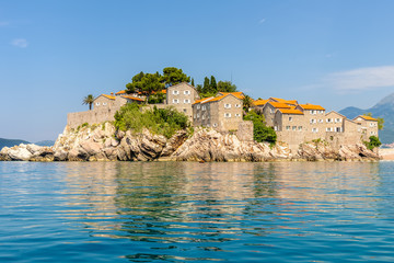 The famous island of Sveti Stefan in Montenegro