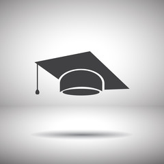 graduation cap vector icon