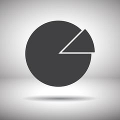 graph pie vector icon