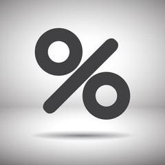 percent sign vector icon