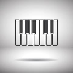 piano keys icon