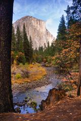 El Capitan Granite Rock Face Merced River Yosemite National Park