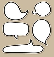 Speech Bubble design set