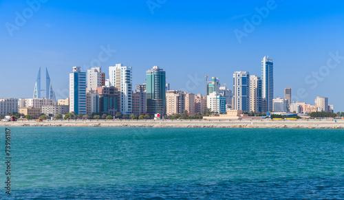 Tuinposter Stad aan het water Skyline of Manama city, Bahrain, Middle East