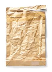 Crumpled brown envelope paper texture
