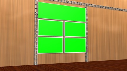 Virtual Studio Green Screen Video Wall Background Animation