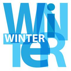 Vector winter. Broken text