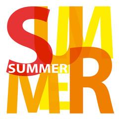 Vector summer. Broken text