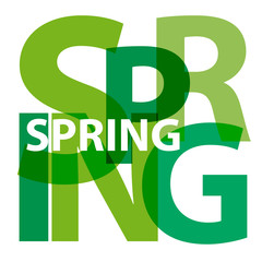 Vector spring. Broken text
