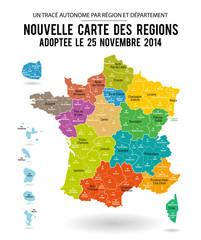 Carte de France 13 régions (carte modifiable)