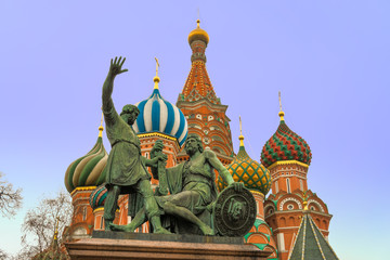 St Basil Cathedral, Moscow, Russia.
