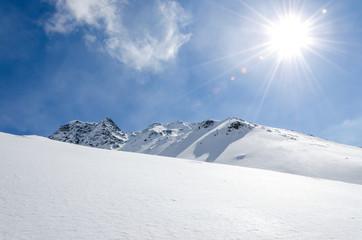 Skigebiet Tiefschnee