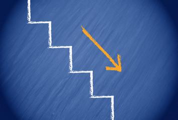 Der Weg nach unten - die Krise