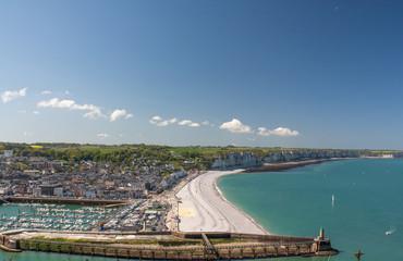 Panoramique sur la ville de Fécamp, Seine Maritime, Normandie