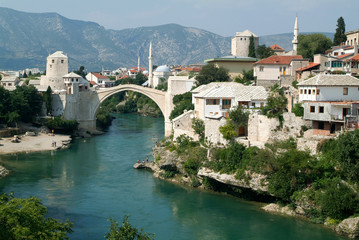The famous bridge at Mostar