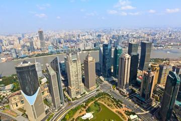 shanghai lujiazui financial center cityscape