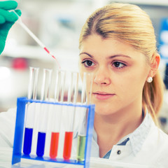 young women science professional