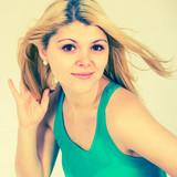 blonde girl in a summer dress poster