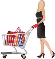 donna con la spesa