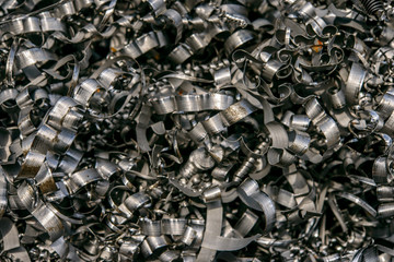 Metal shavings - factory production waste