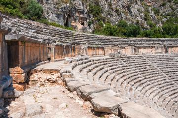 Ancient amphitheater in Myra (Turkey)