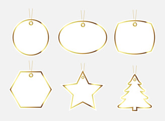 Gift tag, gold edge