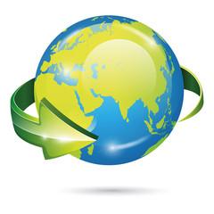 Globe vector icon. EPS