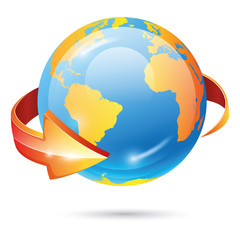 Globe vector icon. EPS