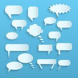 Fototapety Paper Chat Bubbles