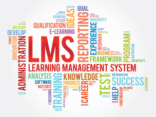 Word cloud of Learning Management System (LMS) related tags