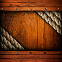 wood board with rope