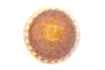 pudding tart with powdered sugar