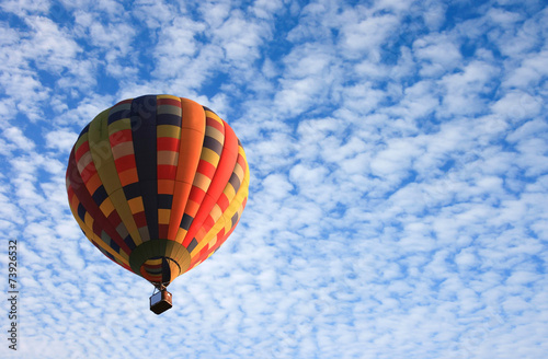 Plexiglas Ballon Hot air balloon in the sky