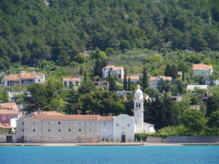 The Benictine monastery and the saint Francis church of Cres