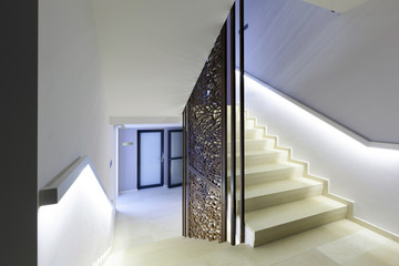 Luxury hotel stairs
