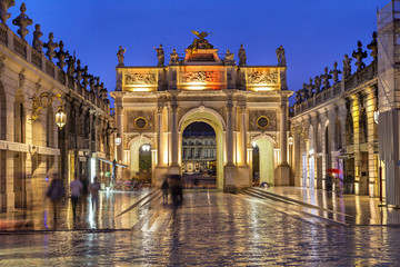 Stanislas Square in the evening, Nancy,  France