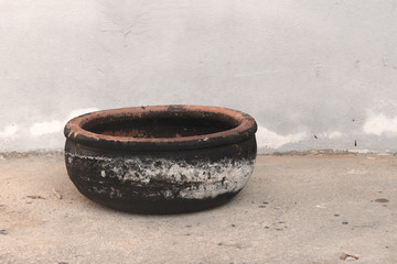pottery full of soot