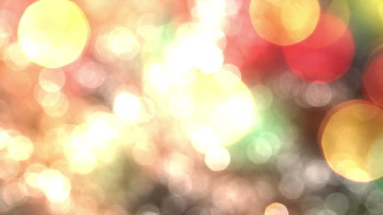 Bokeh Particles on a Colorful Background