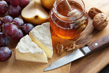 French Cheese with Honey