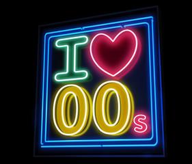 I love the 00s neon