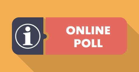 Online Poll in Flat Design.