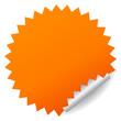 Blank orange vector sticker