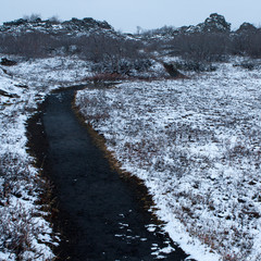 black path in iceland