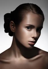 Portrait of beautiful girl. Pure Beauty Model